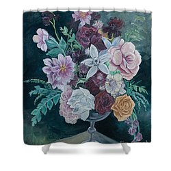 Fall Vase Shower Curtain by Jana Goode