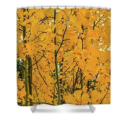 Fall Yellow Shower Curtain