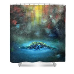 Fallen Angel Shower Curtain by Heather Calderon