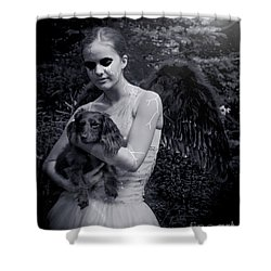 Shower Curtain featuring the photograph Fallen Angel by Rebecca Margraf