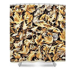 Fallen Autumn Leaves Shower Curtain