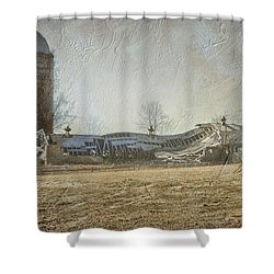 Fallen Barn  Shower Curtain