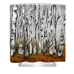 Fallen Shower Curtain by Chad Berglund