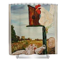 Fallen Egg 21 Shower Curtain