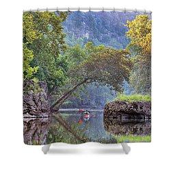 Fallen Giants Shower Curtain by Robert Charity