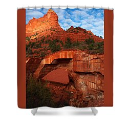 Shower Curtain featuring the photograph Fallen by James Peterson