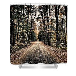 Fallen Road Shower Curtain by Nathan Larson