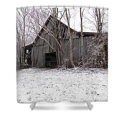 Falling Barn Shower Curtain by Nick Kirby