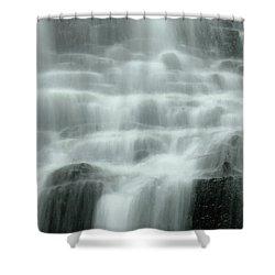 Falling Shower Curtain by Don Schwartz