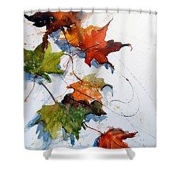 Falling Down    Shower Curtain by Sandra Strohschein