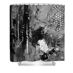Falling Heart Shower Curtain by Gail Butters Cohen