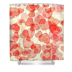 Shower Curtain featuring the digital art Falling In Love - Hearts In Motion by Mark Tisdale