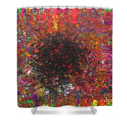 Shower Curtain featuring the painting Falling by Jacqueline Athmann