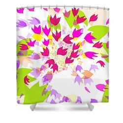 Shower Curtain featuring the digital art Falling Leaves by Barbara Moignard