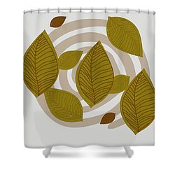 Falling Leaves Shower Curtain by Kandy Hurley