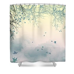 Falling Leaves Shower Curtain