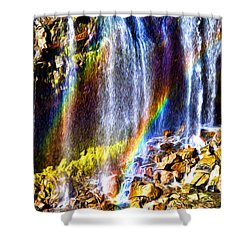Falling Rainbows Shower Curtain