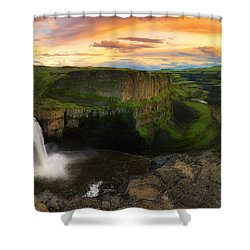 Falling Shower Curtain by Ryan Manuel
