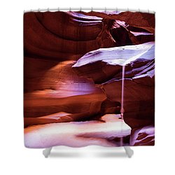 Shower Curtain featuring the photograph Falling Sand by Stephen Holst