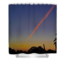 Falling Star Shower Curtain by Mark Blauhoefer
