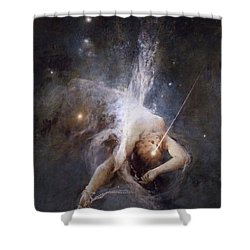 Falling Star Shower Curtain by Witold Pruszkowski