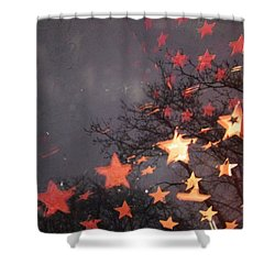 Falling Stars And I Wish.... Shower Curtain