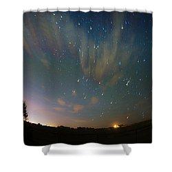 Falling Stars Shower Curtain by Karen Slagle