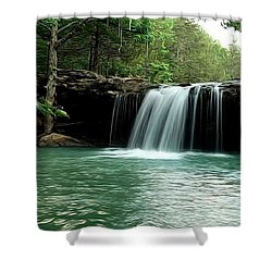 Falling Water Falls Shower Curtain