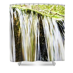 Falling Water Mirror Shower Curtain