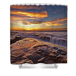 Falling Water Shower Curtain by Sam Antonio Photography