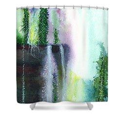 Falling Waters 1 Shower Curtain by Anil Nene