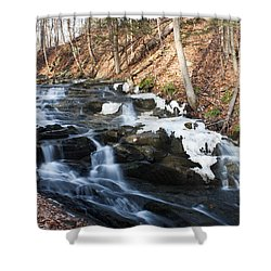 Falling Waters In February #1 Shower Curtain