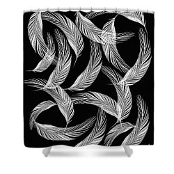 Falling White Feathers Shower Curtain