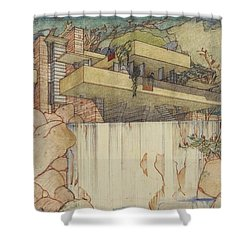 Fallingwater Pen And Ink Shower Curtain