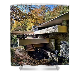 Fallingwater Pennsylvania - Frank Lloyd Wright Shower Curtain