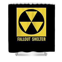 Fallout Shelter Sign Shower Curtain by War Is Hell Store