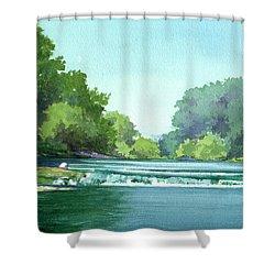Falls At Estabrook Park Shower Curtain