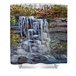 Falls At Rock Glen Shower Curtain