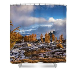 Falls Golden Brilliance Shower Curtain