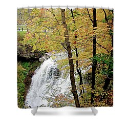 Falls In Autumn Shower Curtain