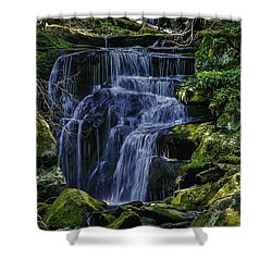 Falls In Vermont Mountain Stream  Shower Curtain