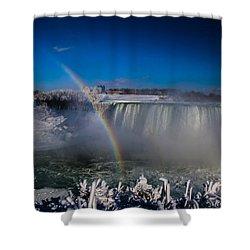 Falls Misty Rainbow  Shower Curtain