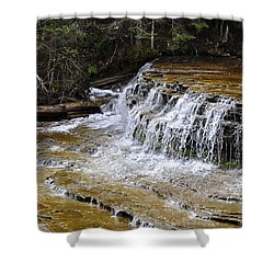 Falls Of The Au Train Shower Curtain