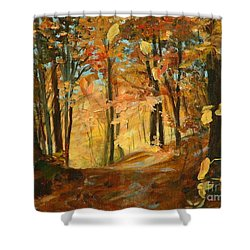 Fall's Radiance In Quebec Shower Curtain