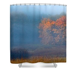 Falltime In The Meadow Shower Curtain