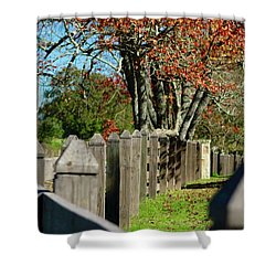 Shower Curtain featuring the photograph Familiar Fall by Lori Mellen-Pagliaro