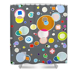 Shower Curtain featuring the painting Family by Beth Saffer