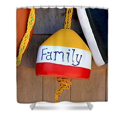 Family Buoy Shower Curtain