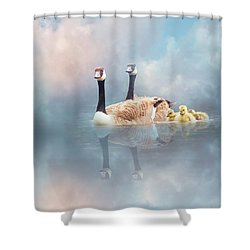 Shower Curtain featuring the digital art Family Cruise by Nicole Wilde