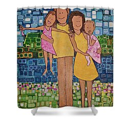 Family Of 4 Shower Curtain